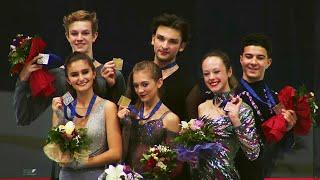 Церемония награждения. Танцы. Croatia Cup. Гран-при по фигурному катанию среди юниоров 2019/20