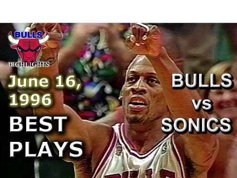June 16 1996 Bulls vs Sonics game 6 highlights