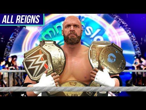 WWE 2K17 - All 14 Triple H WWE World Championship Wins In WWE 👑