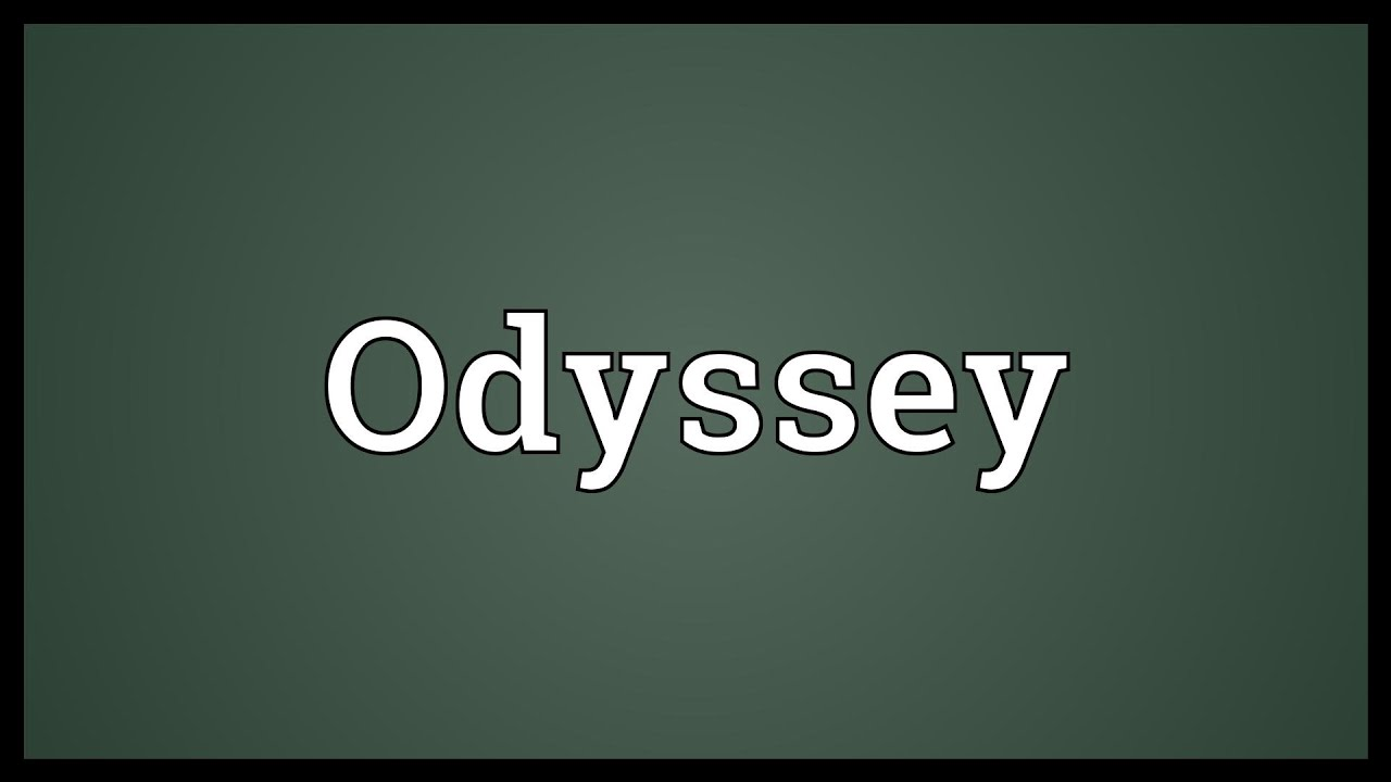 odessay definition • odyssey (noun) the noun odyssey has 2 senses: 1 a long wandering and eventful journey 2 a greek epic poem (attributed to homer) describing the journey of odysseus after the fall of troy familiarity information: odyssey used as a.