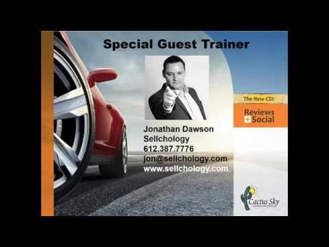 """""""Improve Your Dealership's Online Reputation"""" featuring Jonathan Dawson of #SellchologyReviews"""