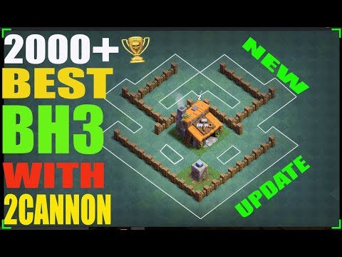 Clash Of Clans | Best Builder Hall 3 Base | BH3 Base Layout With 2 Cannons | New Update