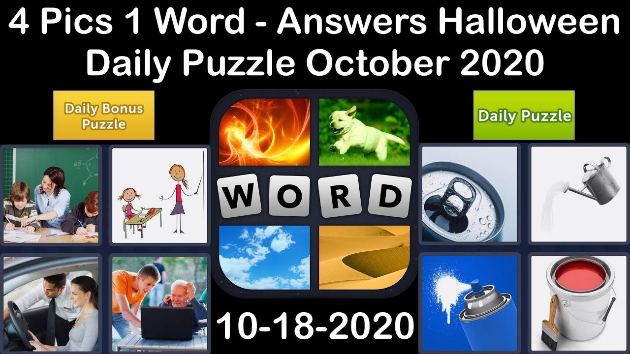 4 Pics 1 Word - Halloween - 18 October 2020 - Daily Puzzle + Daily Bonus Puzzle - Answer-Walkthrough