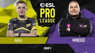 CS:GO - Natus Vincere vs. Windigo Gaming [Overpass] Map 1 - Group C - ESL Pro League Season 9 Europe