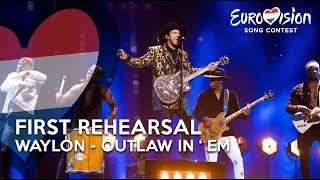 First Eurovision Rehearsal Waylon - Outlaw In 'Em | TeamWaylon