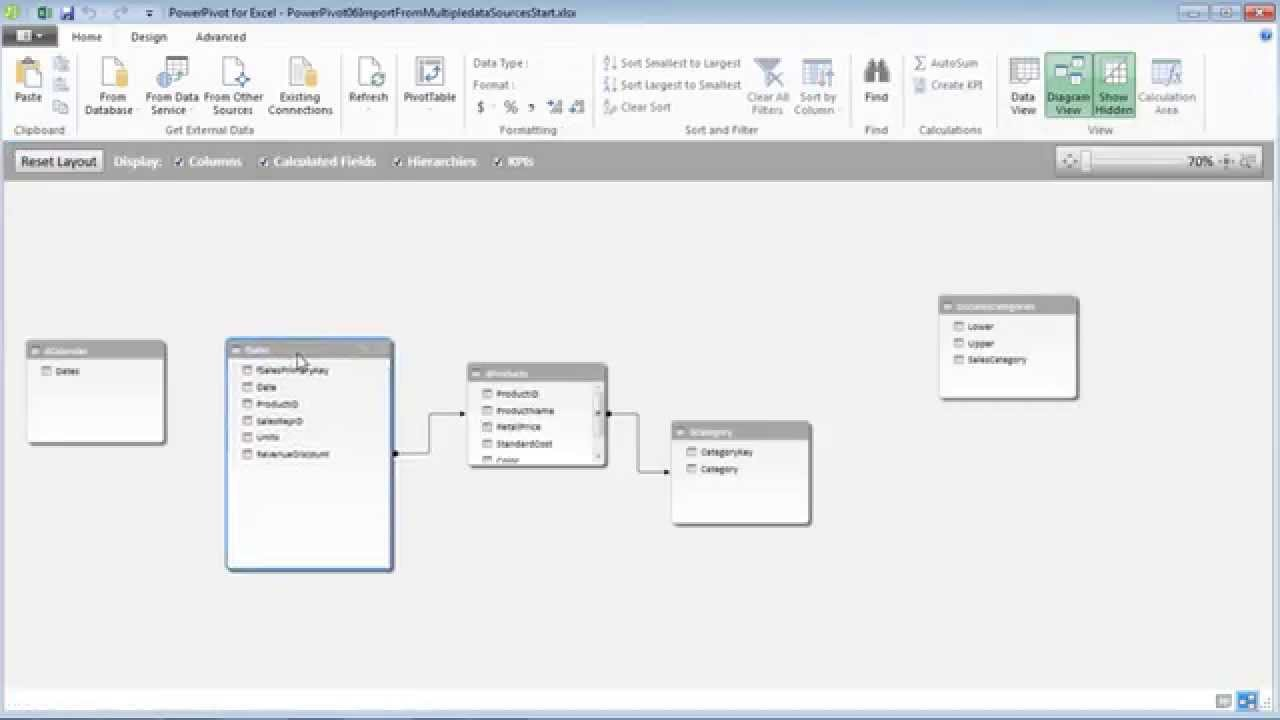Excel 2013 PowerPivot Basics 6: Import, Filter, Edit From