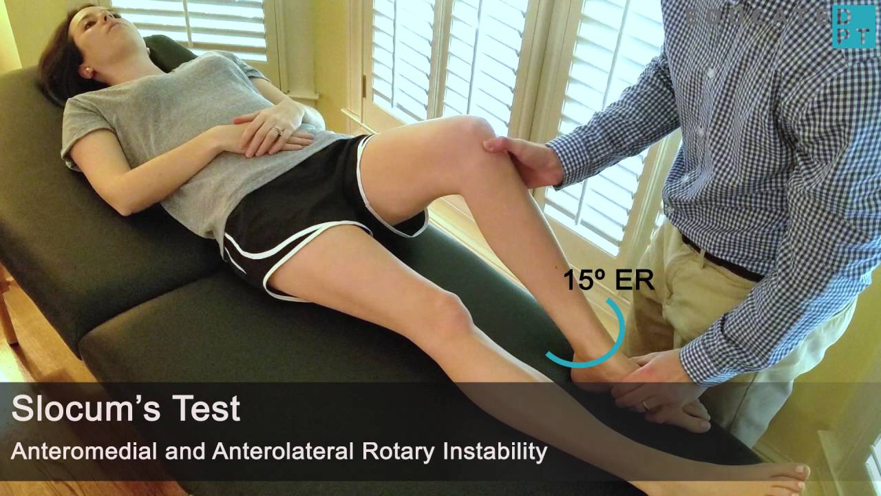 Anterior Drawer + Slocum's Test for ACL Integrity and