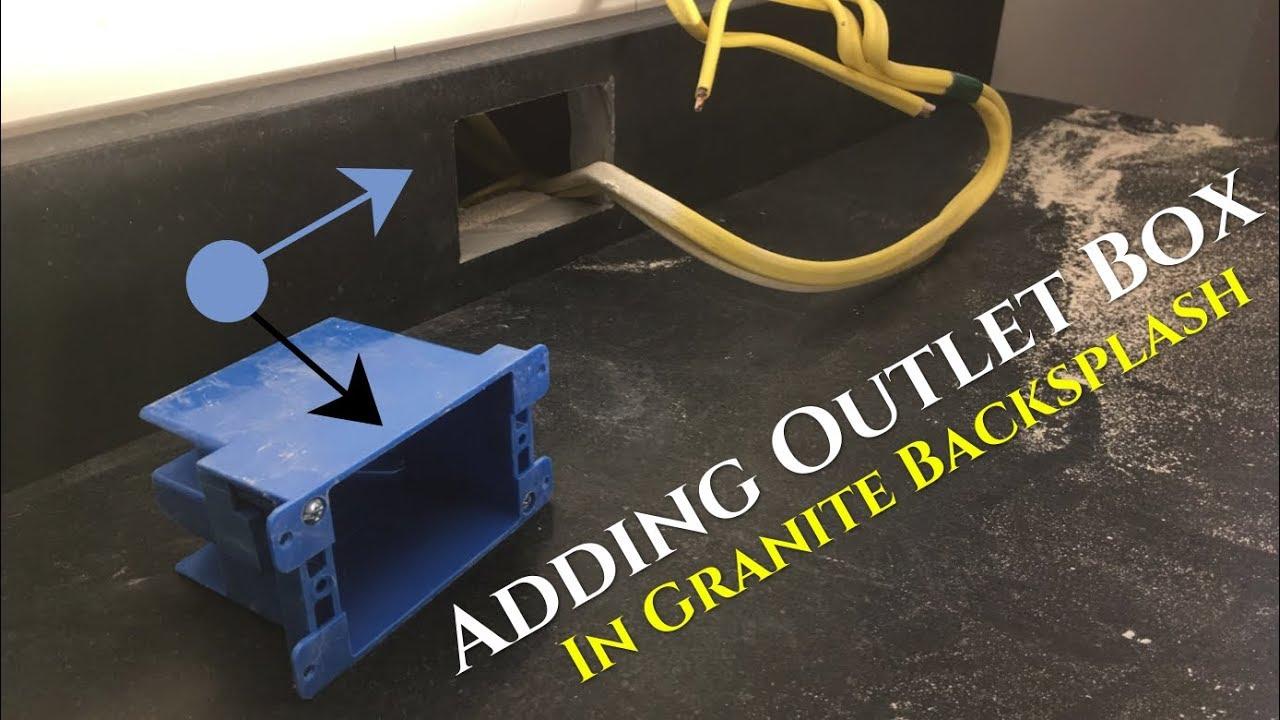 "How To Cut Outlet Box in Granite 4"" Backsplash (old work ..."