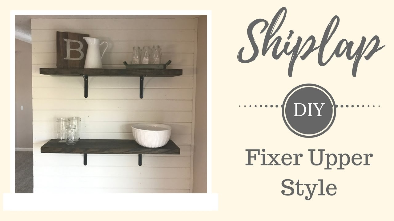 fixer upper style shiplap youtube. Black Bedroom Furniture Sets. Home Design Ideas