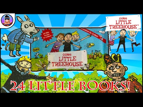 COLES LITTLE TREEHOUSE Mystery Mini Books Collectibles | RARE book opened!!