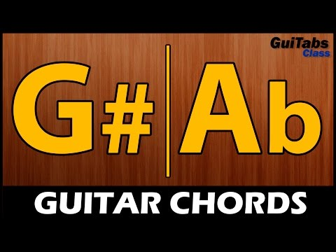 How to play G#/Ab Major Chord ???? / Cómo hacer el acorde Sol#/Lab Mayor ????