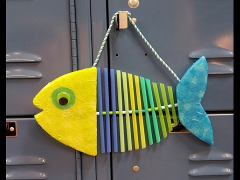 Katie Hacker Creates A Wiggly Fish On Hands On Crafts For Kids 1801
