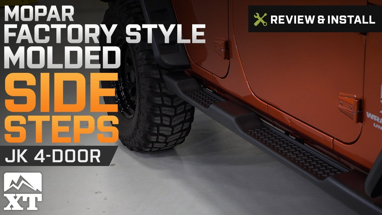 Jeep Wrangler Mopar Factory Style Molded Side Steps (2007 2017 JK 4 Door)  Review U0026 Install