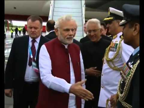PM Modi arrives in Ufa, Russia