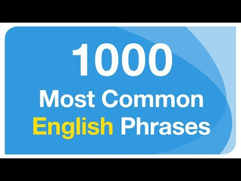 1000 Most Common English Phrases for Conversation (with subtitles)