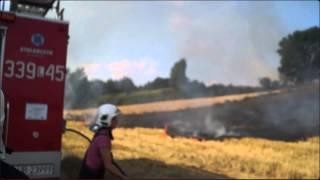 Pożar zbóż w Konopnicy