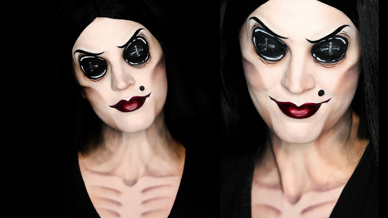 Coraline Other Mother Makeup Tutorial 31 Days Of Halloween Youtube