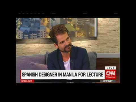 Spanish designer in Manila for lecture