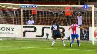Inter de Milan 0-2 Atlético de Madrid (27/8/2010) goles (TVE)