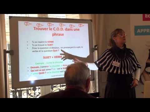 Apprendre la conjugaison – une méthode simple présentée aux ateliers de SOS Education