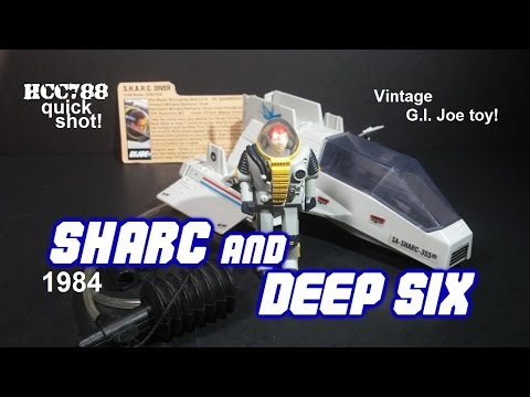 HCC788 Quick shot: 1984 SHARC and DEEP SIX - vintage G.I. Joe toy!