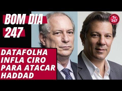 Bom dia 247 (20/9/18): Folha infla Ciro para enfraquecer Haddad