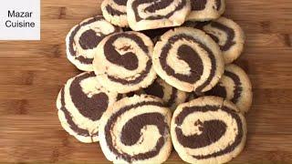 Cookie Recipe  کلچه دو رنگ کاکائوی كلچه های قدیمی کابل Pinwheel Cookies Chocolate Pinwheel Eid