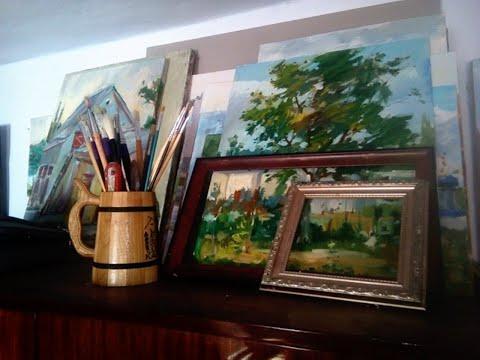 Живопись маслом.Oil Painting In Nature