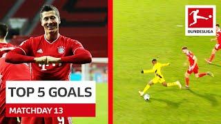 Top 5 Goals Lewandowski Schick Moukoko More
