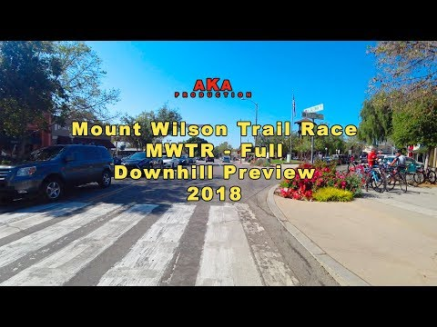 Mount Wilson Trail Race - full downhill course preview