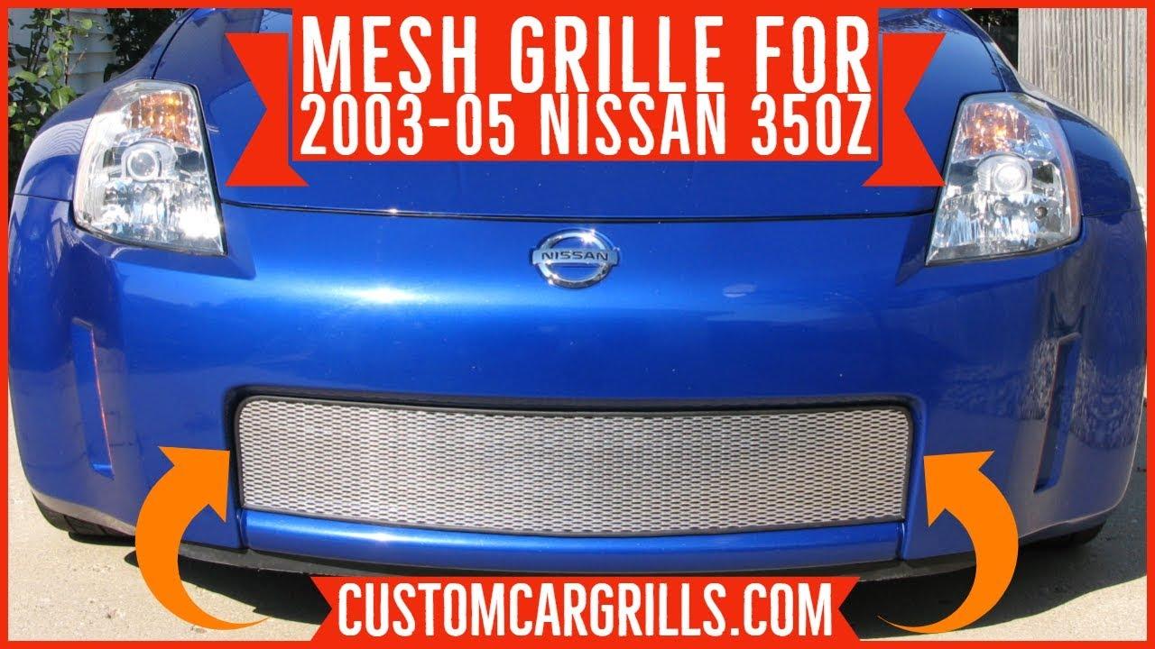 customcargrills.com 03-05 Nissan 350z Mesh Grill - YouTube