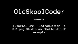 tutorial one introduction to cbm prg studio an hello world example