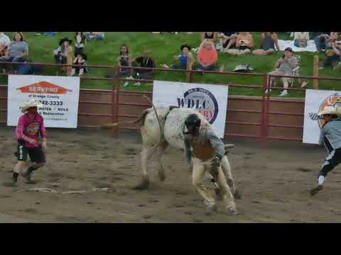 Super Angry Bull Attacks Rider (Stampede Rodeo)