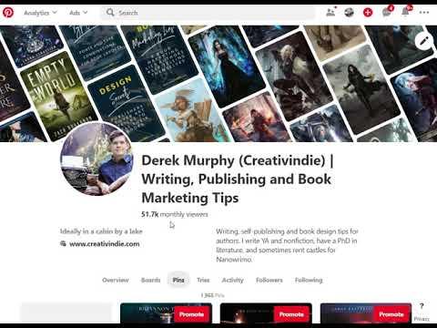 239670751 Pinterest book marketing for authors. Derek Murphy