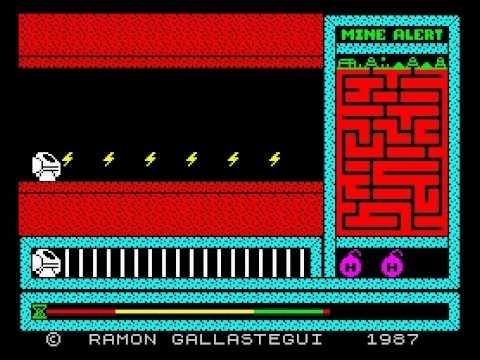 Mine Alert Walkthrough, ZX Spectrum