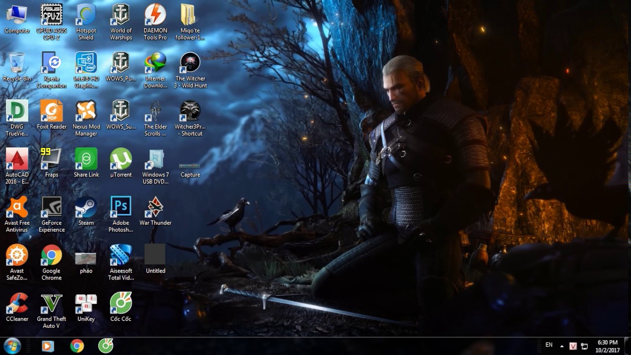 Wallpaper engine with the witcher 3 theme youtube wallpaper engine with the witcher 3 theme voltagebd Images