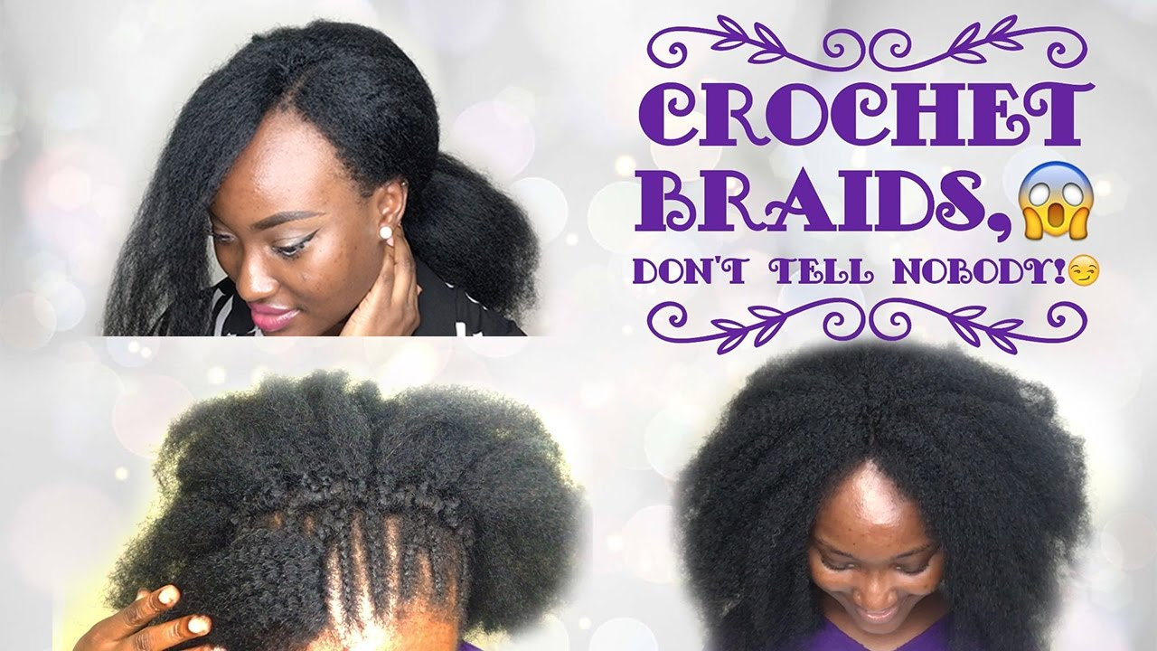 Detailed Natural Looking Crochet Braids Afro Kinky Extensions