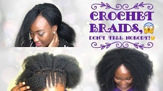 DETAILED NATURAL LOOKING CROCHET BRAIDS  AFRO KINKY EXTENSIONS  CROCHET EPISODE 1