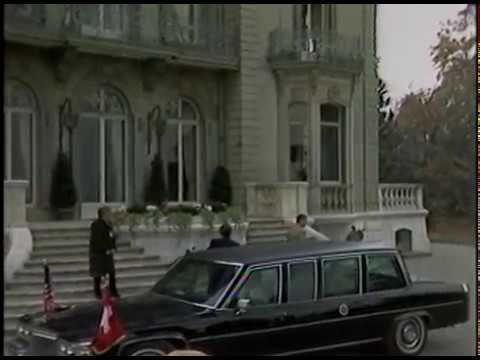 President Reagan and Mikhail Gorbachev Arrival at the Geneva Summit on November 19, 1985