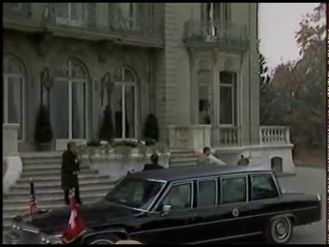 President Reagan and Mikhail Gorbachev Arrival at the Geneva Summit on November 19, 1985
