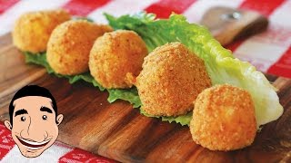 Fried Mozzarella | Italian Fried Cheese Balls Feat My Mum
