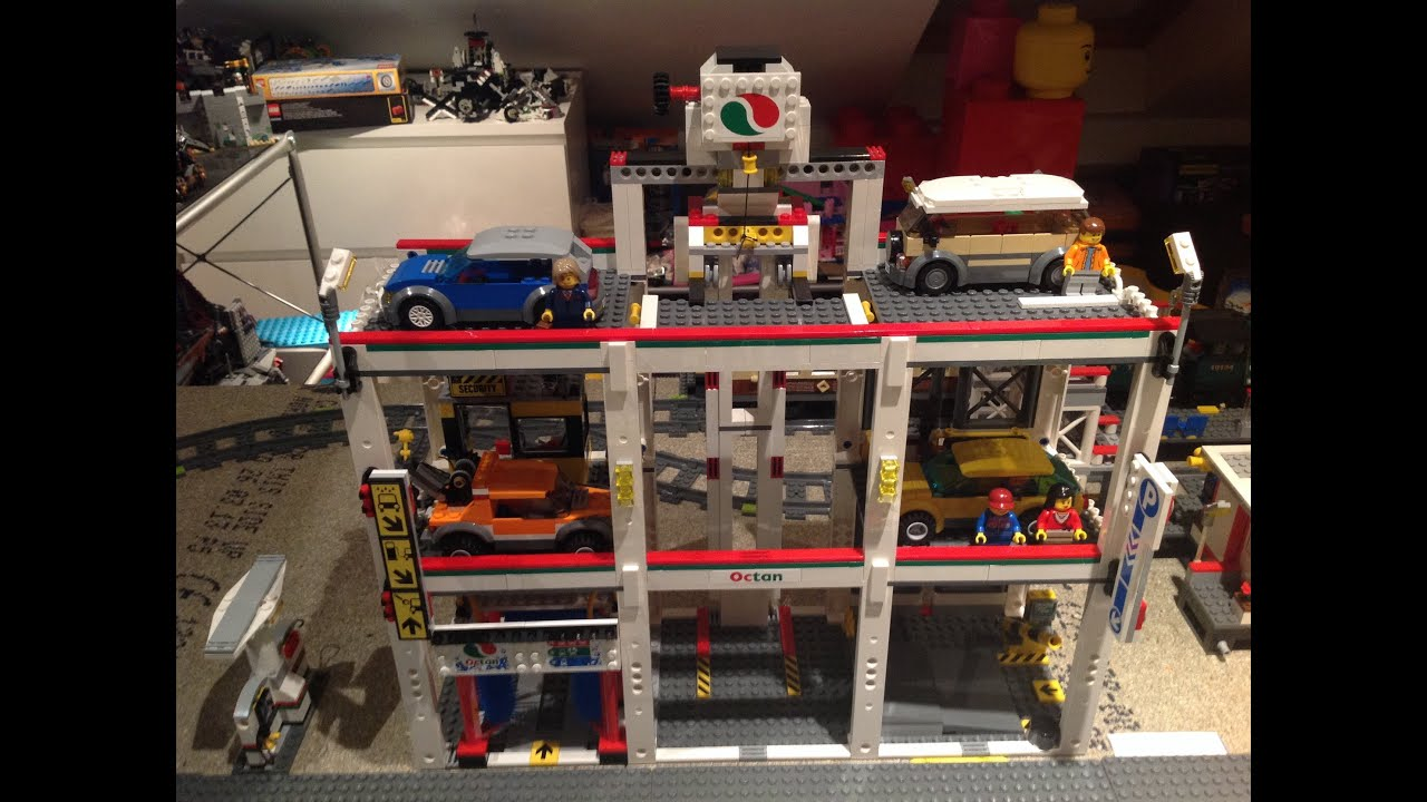 Garage Parking Stop >> Lego 4207 City Garage, released 2012, Time Lapse Build. Cancel - YouTube