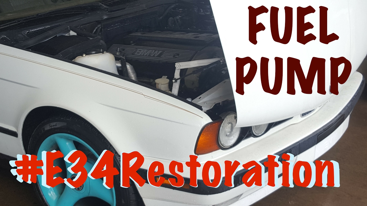 small resolution of  e34restoration bmw 525i fuel pump replacement