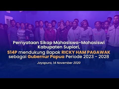 Pernyataan Sikap Mahasiswa-mahasiswi Kabupaten Supiori dukung RHP Gubernur Papua Periode 2023-2028