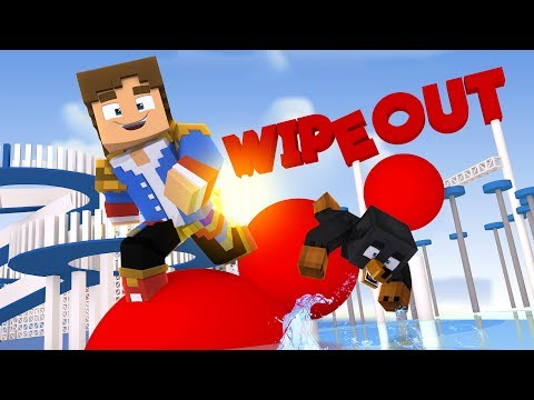 Minecraft WIPEOUT - DONNY V'S DONUT - WHO WINS THE WIPEOUT CHALLENGE??