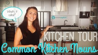 Learn English Vocabulary | Common Kitchen Nouns & Pronunciation