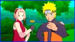 Naruto and Sakura take Kakashi Bell Test   Naruto Shippuden Ultimate Ninja Storm 2 Game