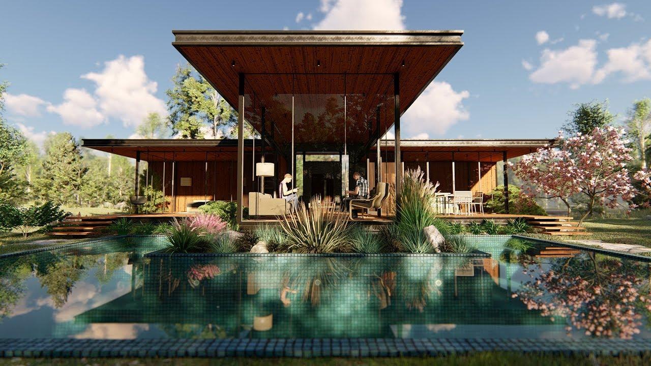 Lumion 8 pro render modern house7