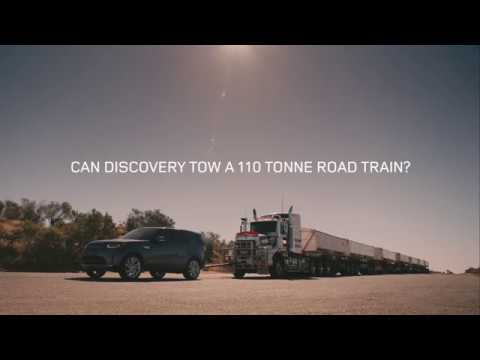 Land Rover Discovery Tows 110-Tonne Australian 'Road-Train'