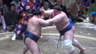 20140113 大相撲初場所2日目 豪栄道 vs 碧山.